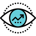 graphics, Business, Stats, Benefits, Diagram, statistics, Eye, growth, Arrow Black icon