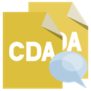 File, Bubble, Cda, Format, speech Goldenrod icon
