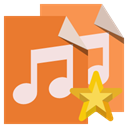 File, type, Audio, star Chocolate icon