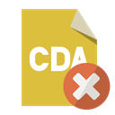 Close, Cda, File, Format Goldenrod icon