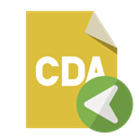 File, Cda, Format, Left Goldenrod icon