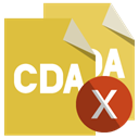 cross, Format, File, Cda Goldenrod icon