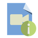 type, File, video, Info CornflowerBlue icon