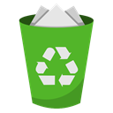 Bin, Full, recycling LimeGreen icon