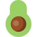 Healthy Food, vegan, Fruit, organic, Avocado, Food And Restaurant, diet, food, vegetarian DarkKhaki icon