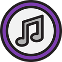 social network, Brand, music store, social media, Quaver, Brands And Logotypes, Squares, Logo, itunes WhiteSmoke icon