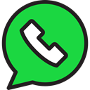 Whatsapp, Logo, social media, logotype, social network, Message, Chat, Logos, Brands And Logotypes LimeGreen icon