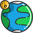 universe, miscellaneous, space, Planet Earth, Geography, galaxy DodgerBlue icon