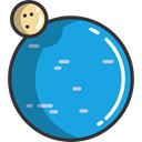 galaxy, solar system, planet, miscellaneous, science, uranus, Astronomy DodgerBlue icon