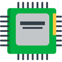 Chip, electronics, electronic, Cpu, technology, processor ForestGreen icon