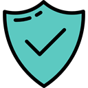 checking, defense, check mark, ui, shield, Protection, Checked, weapon, weapons MediumTurquoise icon