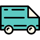 Automobile, transport, truck, Shipping, transportation, Delivery Truck, Delivery, Cargo Truck, Shipping And Delivery MediumTurquoise icon