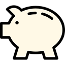 funds, Money, coin, save, piggy bank, Business And Finance, savings OldLace icon