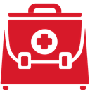 doctor, Briefcase, red Crimson icon