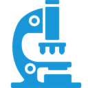 Blue, microscope DodgerBlue icon