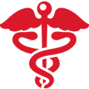 health, sign, red Crimson icon