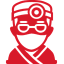 doctor, red Crimson icon