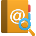 search, Addressbook Goldenrod icon