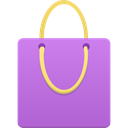 purple, shopping, Bag Orchid icon