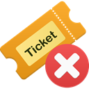 remove, Ticket Goldenrod icon