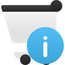 Cart, shopping, Info MediumTurquoise icon