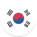 Korea, south Black icon