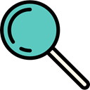 search, miscellaneous, magnifying glass, zoom, Loupe, Tools And Utensils, detective Black icon