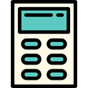 miscellaneous, technology, calculator, Technological, maths, Calculating OldLace icon