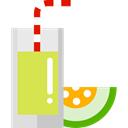 Food And Restaurant, organic, vegetarian, Fruit, Healthy Food, drink, Juice, vegan, food, Melon Juice Black icon