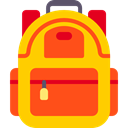 Backpack, baggage, luggage, travel, Bags OrangeRed icon