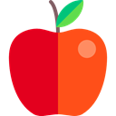 Apple, Healthy Food, Food And Restaurant, vegetarian, food, diet, vegan, Fruit, organic Crimson icon
