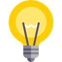 Idea, Light bulb, invention, illumination, electronics, technology, electricity Gold icon