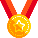 award, medal, Champion, winner, Sports And Competition Black icon
