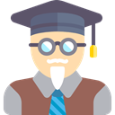 teacher, Educator, Avatar, Man, people, user, person, education, Professor DimGray icon