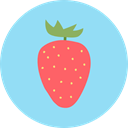 strawberry, Fruit, Healthy Food, vegetarian, organic, diet, vegan, food, Food And Restaurant LightSkyBlue icon