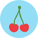 vegan, Healthy Food, vegetarian, Cherry, diet, Fruit, organic, Food And Restaurant, food LightSkyBlue icon