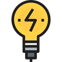 tool, Idea, symbol, bulb, lightbulb, tools, outline, Business And Finance, Tools And Utensils, light, Creativity Black icon