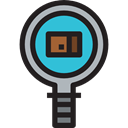 web, Business And Finance, zoom, search, research, magnifying glass, Magnifier, Searching Black icon