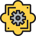 configuration, Gear, Tools And Utensils, cogwheel, settings, Business And Finance SandyBrown icon