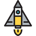 Business And Finance, transport, startup, space, Rocket, money bag, commerce, Business Black icon