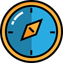 compass, travel, location, Orientation, Tools And Utensils, Cardinal Points, Direction DodgerBlue icon