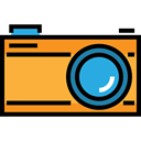 digital, interface, photograph, travel, Camera, picture, photo camera, technology Black icon