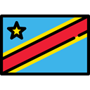 flag, Nation, flags, world, Country, Democratic Republic Of Congo MediumTurquoise icon