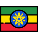 flag, Country, Nation, flags, world, Ethiopia Black icon