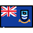 world, flag, Country, Falkland Islands, Nation, flags MidnightBlue icon