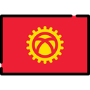 flag, flags, world, Country, Nation, Kyrgyzstan Crimson icon