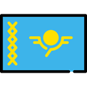 flag, Nation, Country, world, Kazakhstan, flags MediumTurquoise icon