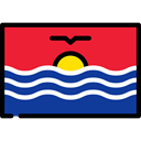 Kiribati, Nation, world, flags, flag, Country Crimson icon
