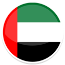 united, Arab, emirate Black icon