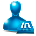 Avatar, Linkedin Black icon